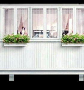 Остекление балкона пвх, 6-камерный профиль в калининграде - .