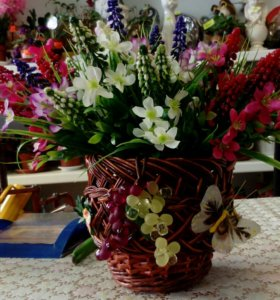 Компазиция из искуст.цветов