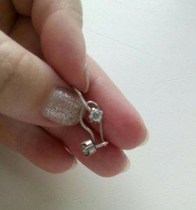 Сережки серебрянные для девочки