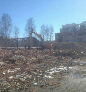 Демонтаж,переработка строительных отходов.