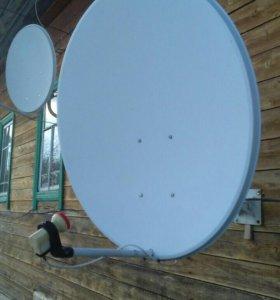 Монтаж спутниковых, эфирных и 2g, 3g антенн