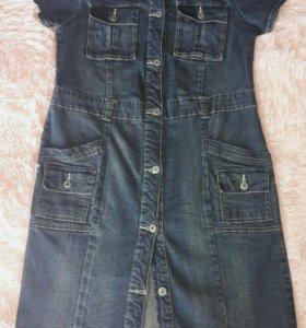 Джинсовое платье р.46-48