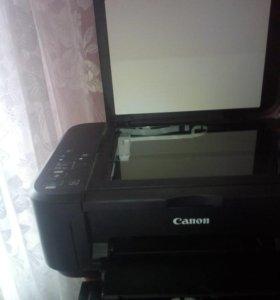 Цветной струйный принтер+сканер CANON