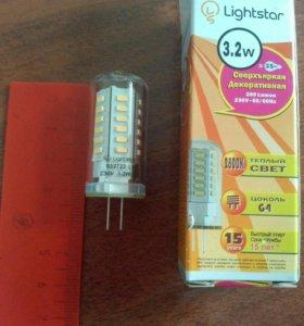Лампы светодиодные цоколь G 4, W 3.2, К 2800