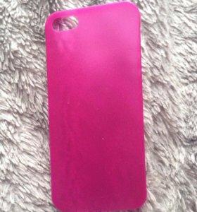 Чехол и стекло на айфон 5s