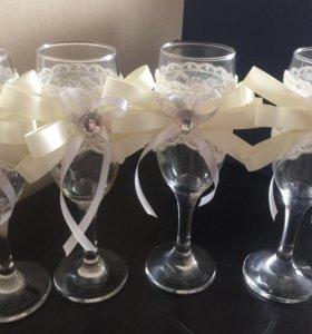 Свадебный сундук + бокалы