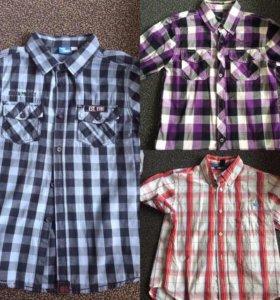 100 рублей рубашка для мальчика рост 140-146.