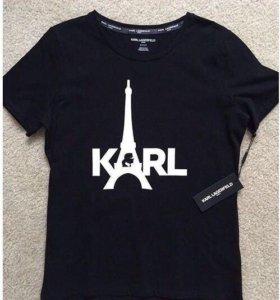 Женские футболки бренда Karl Lagerfeld