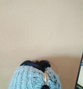 Чалма вязаная и полоска на голову