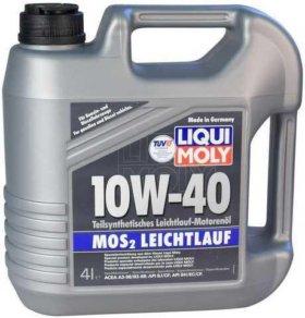Моторное масло LIQUI MOLY MoS2 Leichtlauf 10w-40