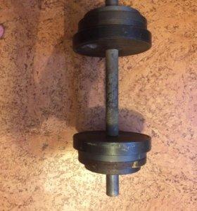 Гантеля 17 кг