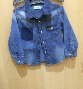 Рубашка джинсовая рост 80