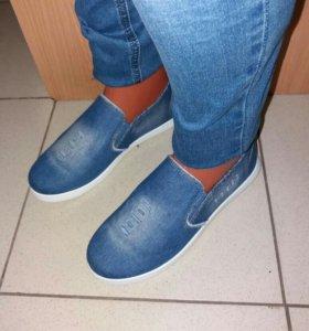Кеды джинсовые женские 36-41р