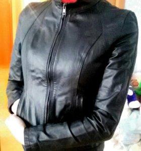 Куртка кожаная нат