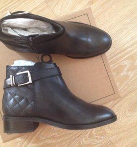 Новые кожаные ботинки женские ботильоны