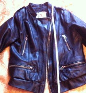 Куртка натуральная кожа на подростка