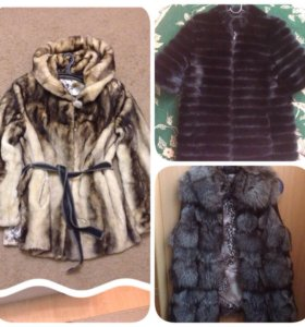 Норковая куртка-жилет