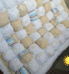Одеяло бомбон и бортики в кроватку