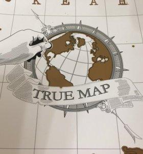 Карта мира для путешественников