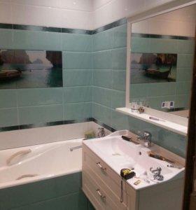 Ремонт в ванной.