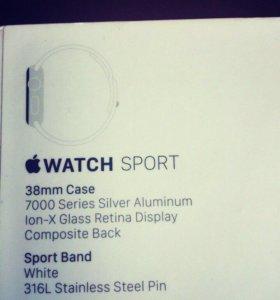 часы Apple Watch Sport 38mm SIL AL.