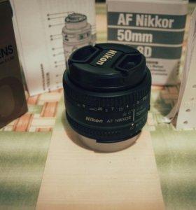 Объектив Nikkor 50mm f/1.8D AF