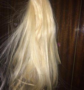 Волосы натуральные срез
