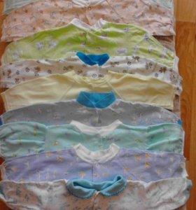 Детские рубашечки,кофточки, распашенки