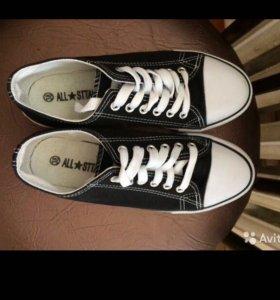 Converse Конверсы/ кеды черные