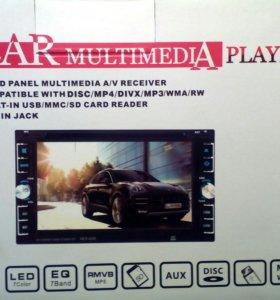 Новая авто магнитола 2 din bluetooth диск dvd
