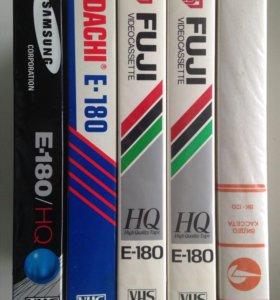 VHS видеокассеты 5 шт