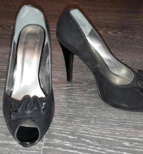 Туфли иск.замша