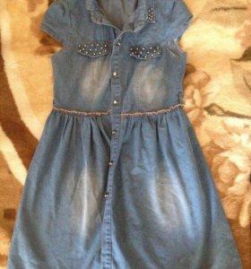 Новое джинсовое платье 42-44