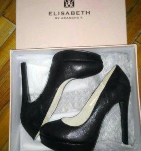 Туфли чёрные 38 новые