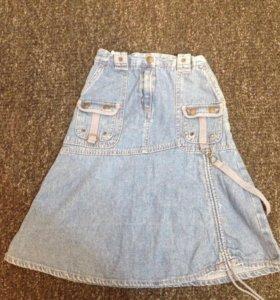 6 лет: Джинсовая юбка