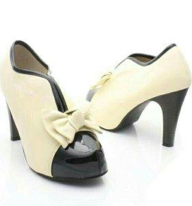Туфли бежевые, 37 р-р