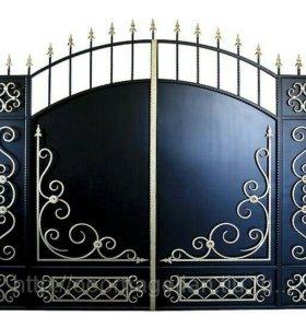 Кованые изделия (ворота, калитки, перила)