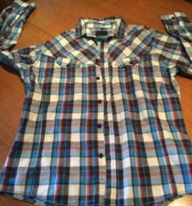 Клетчатая рубашка мужская