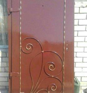 Дверь входная металлическая кованая