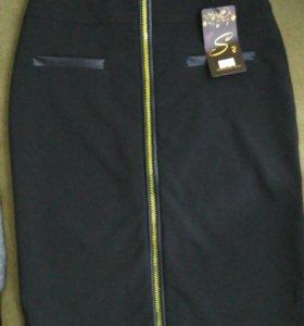 Новая юбка с молнией спереди (с этикеткой)