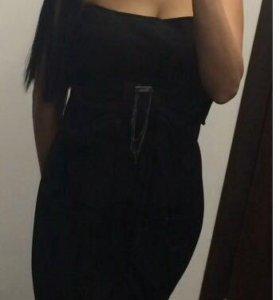 Платье чёрное р42