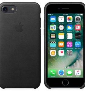 Кожаный чехол Apple для iPhone 7 (чёрный)
