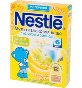 Каша Nestle молочная с 6 месяцев