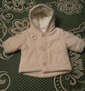 Курточка от 2 месяцев (30 см без капюшона)