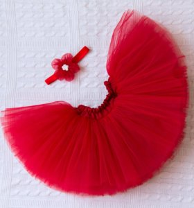 Комплект юбка-пачка и повязка на девочку 1 год