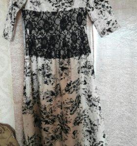 платье в пол (бу не много)