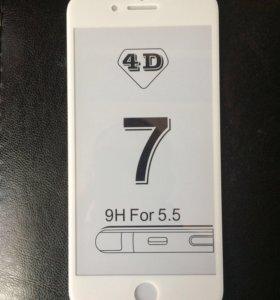 Защитное стекло 4D iPhone 7+