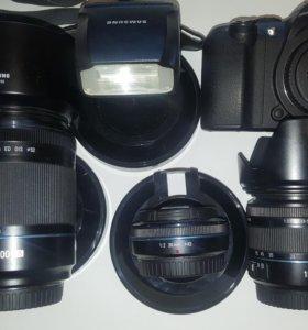 Samsung nx10 с комплектом оптики