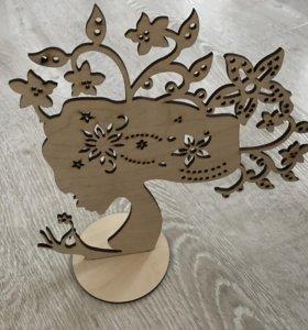Подставка для украшений из дерева (фанера 4мм.)