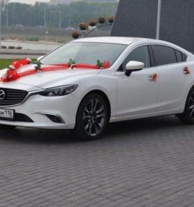 Mazda 6 на свадьбу. Мазда на свадьбу. Аренда авто.